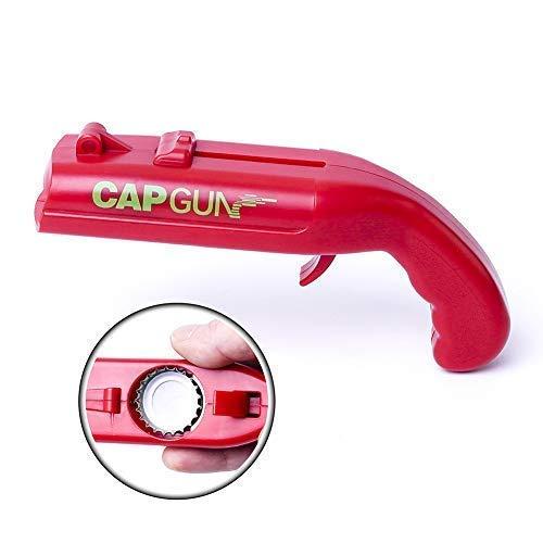 Cap Gun Launcher Shooter Beer Bottle Opener, Beer Drink Magnetic Openers Keychain - Shoots Over 5...