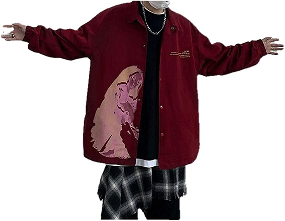 Men's jackets streetwear men's casual loose windbreaker jacket