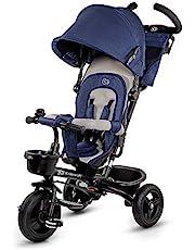 Kinderkraft driewieler 6-in-1 Aveo, kinderdriewieler, jogger met accessoires, inklapbaar, dakraam, stuur, onverspringbare wielen, rubberen wielen, vanaf 9 maanden tot 5 jaar