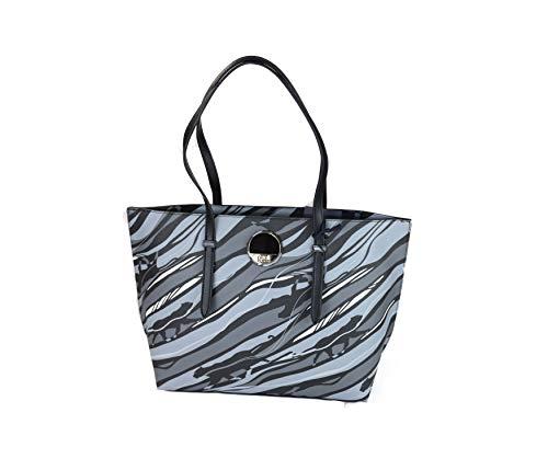 Roberto Cavalli Class Shopping Bag Black and Grey