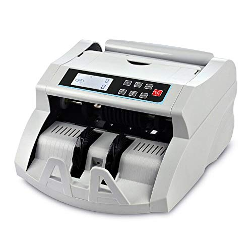 Bill Counter UV/MG Detection Money Counter Cash Counting Machine Banknote Counter Selected Single Denomination for US Dollar to Calculate The Total Monetary Value(Grey+LCD Display)