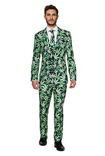 Suitmeister Everyday Pakken voor Heren - Cannabis - Inclusief Broek, Jasje en Stropdas - S