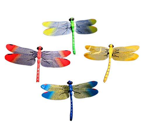 BLANCHO BEDDING Bunte simulierte Libelle Figuren Spielzeug Halloween Witz Trick Kinder lernspielzeug, 8 stück