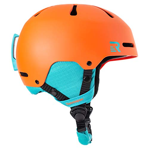 Retrospec Traverse H3 Youth Ski & Snowboard Helmet (3002) Matte Tangerine, Small (52-55cm)