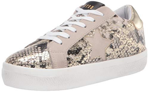 Steve Madden Women's Starling Sneaker, Gold Snake, 10 M US