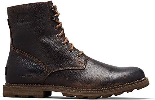 "Sorel - Men's Madson 6"" Waterproof Boot, Tobacco, Mud, 12 M US"