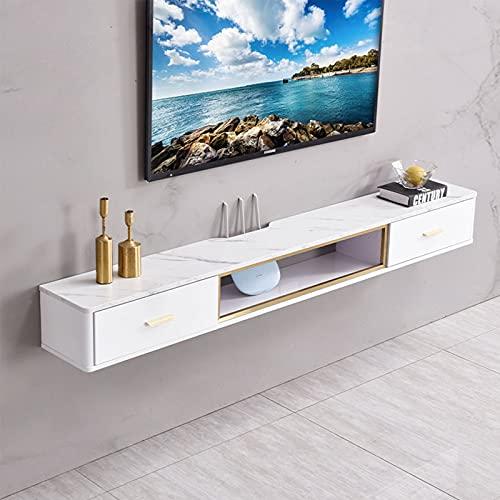 Bxzzj Consola Mueble TV para Sala Estar, Gabinete Soporte Pared Flotante, Gabinete De Pared De Madera, Adecuado para Dormitorio/Pasillo/Sala De Estar (Color : B)