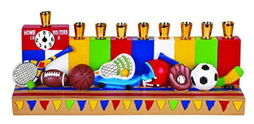 The Hanukkah Children's Sports Menorah (Baseball ,Basketball, Football, and more)