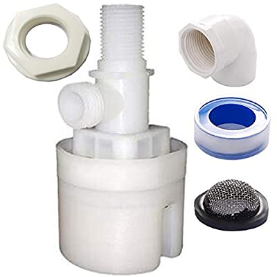 1/2 inch Float Valve, Water Level Control Box Upgraded Version of Traditional Float Valve (1 Pack) from WANLIAN