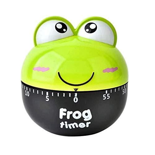 beijieaiguo Küchen-Timer-Uhr 50 Min Frog Kochen Timer Cartoon Mechanische Countdown Lebensmittel Kochzeit 1 Pc