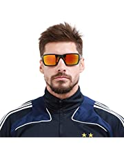Polarized Sports Sunglasses Driving Sun Glasses for Men Women Square Frame Cycling Running Fishing Golf 100% UV Protection