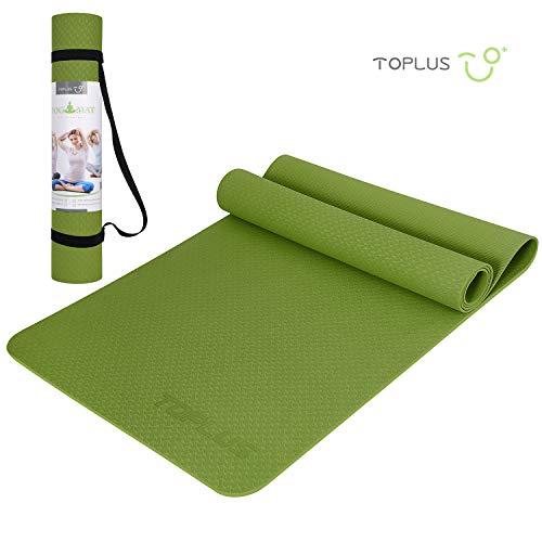 TOPLUS Yogamatte, Gymnastikmatte - aus TPE Recycelbare Materialien, extrem rutschfest und langlebig, 183 x 61 x 0,4 cm, ungiftig, Bodenmatte für Sport, Fitness