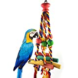Juguetes Accesorios Pájaro masticar juguete gracioso algodón cuerda loro juguete mordida pájaro pájaro desgarro juguete cockatiels parakeet entrenamiento juguete accesorios de aves para Agapornis