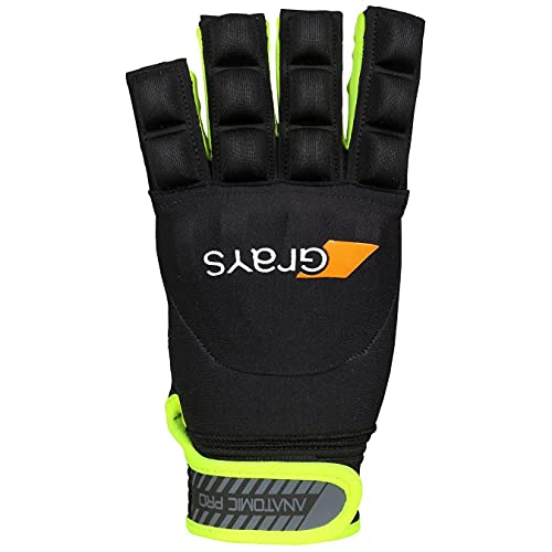 Anatomic Pro Hockey-Handschuh, rechte Hand, Schwarz/Gelb, Größe L