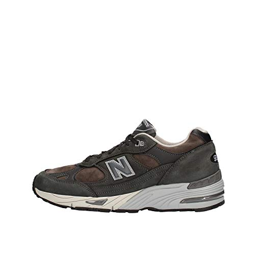 Nuevo Balance 991 zapatos hombre cuero NUBUCK NDG oscuro gris antracita antracita - 7,5