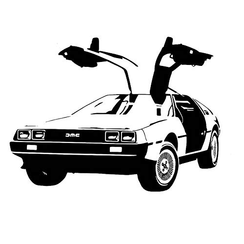 57x78cm, Wall Art, Classic Vintage Gull Wing Back to the Future Car Hanging Background Stickers Decal Letter Stickers Mural Modern Nurse Activity Care Picture