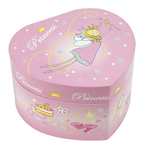 TROUSSELIER - Princesse - Boîte à Bijoux Musicale - Idéal Cadeau Jeune Fille - Musique Sérénade de Schubert - Colori Rose