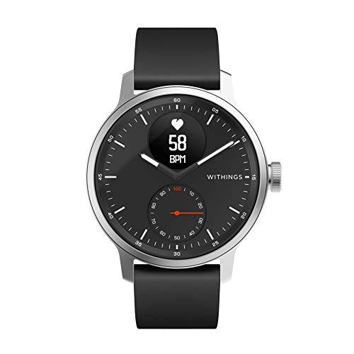 Withings ScanWatch - Reloj inteligente híbrido con ECG, tensiómetro y oxímetro, Negro, 42 mm