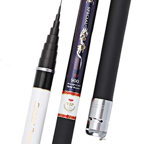 Canna da Pesca Fissa Pesca telescopica in Fibra di Carbonio di Alta qualità Rod 8m-15m Ultra Light Disco Viaggi Carp Fishing Canna da Pesca