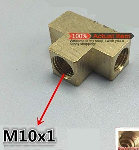 """2 Units Metric Thread M10 M10X1 Male to Barb 3//8/"""" 10mm Brass Air Fuel Gas Oil Boat"""