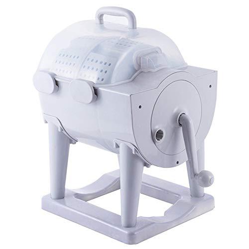 MMYJ Lavatrice Portatile Non Elettrico Rondella a Manovella con Centrifuga Combo Lavatrice Disidratante Compatta per Appartamento, Hotel, Dormitorio, Dormitori da Campeggio