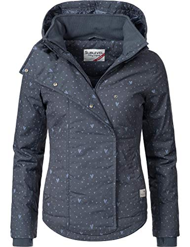 Sublevel Damen Übergangsjacke Outdoorjacke 46550D Navy Gr. L