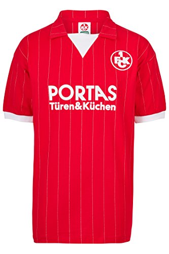 ScoreDraw Herren Retro - Trikot 1. FC Kaiserslautern   Heimtrikot 1983 in Rot, Größe: L