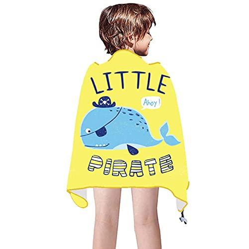 Niños grandes Baño Towel Towel Boys and Girls Natación Capa de toalla de playa 51in x 31in Toca de terciopelo suave de doble cara Absorbente Cape de toalla de secado rápido No es fácil de adherir a la