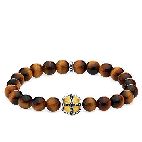 Thomas Sabo Unisex-Armband Kreuz gold 925 Sterlingsilber gelbgold vergoldet A1929-849-2-L19,5