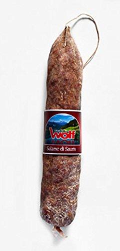 650gr Original italienische Spezialität Salame di Sauris Wolf - leicht geräucherte Berg Salami aus dem Friaul