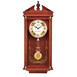 Seiko Regal Oak Wall Clock with Pendulum