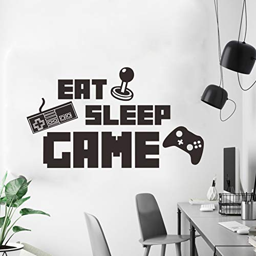 Qingbay Game Theme Wall Stickers Decals Eat Sleep Game Wall Decoration for Boys Room