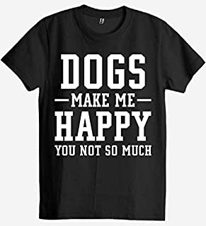 Dogs make me happy t shirt - dog lover t shirt - dog owner t shirt