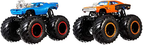 Hot Wheels - Monster Trucks Duelos Dobles Pack de 2 Vehículos 1:64, C