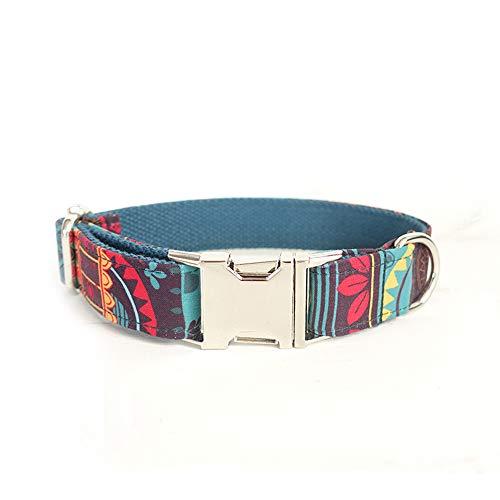 ubest Einstellbares Hundehalsband mit Metallschnalle, Weiches Halsband für Hunde, M, Blau