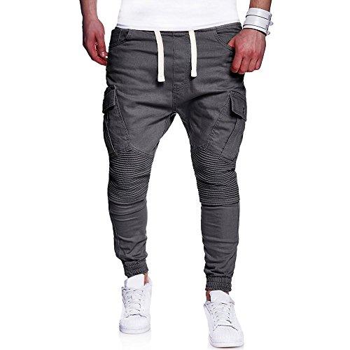 SANFASHION Herren Cargo, Jeans, Hosen, Sporthose, Casual Elastischer Bund Sweathose Jogginghose Stretch Slimfit Outdoorhose Freizeithose Sportswear...