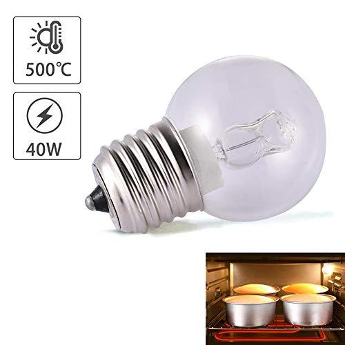 Sunneey E27 40W - Bombilla halógena eléctrica para horno (110-250 V, 500 °C, resistente al calor)