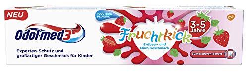 Odol-med3 Fruchtkick Erdbeer- und Minz-Geschmack Zahnpasta, 50 ml