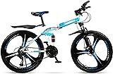Ligero, 24 pulgadas de bicicletas de montaña for adultos, doble suspensión plegable Ciudad de bicicletas, bicis de doble freno de disco de la nieve, de aleación de magnesio Ruedas Liquidación de inven