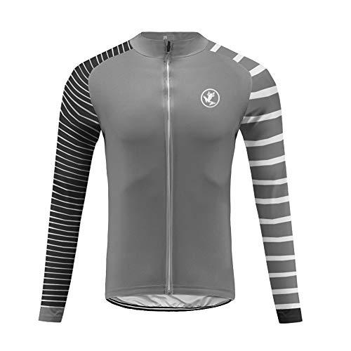 Uglyfrog per Uomo, Camicie da Ciclismo Traspiranti a Maniche Lunghe, Camicie Lunghe per la Invernale Termico e l'autunno, Abbigliamento da Ciclismo, Sport all'Aria Aperta, T-Shirt IT19LZRT06