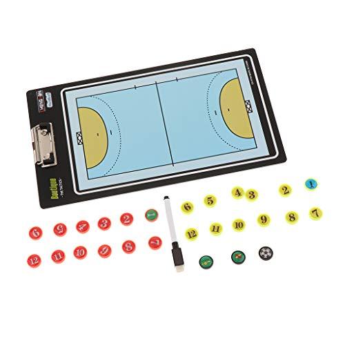 IPOTCH Basketball Magnetische Taktik Board Coaching Board Trainer Taktikbrett und Magnettafel - Volleyball