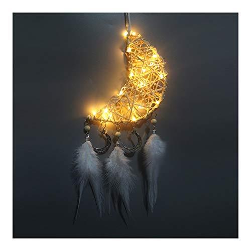 YXZQ Artículos para el hogar Colector Ideal de iluminación LED Pluma Dreamcatcher...