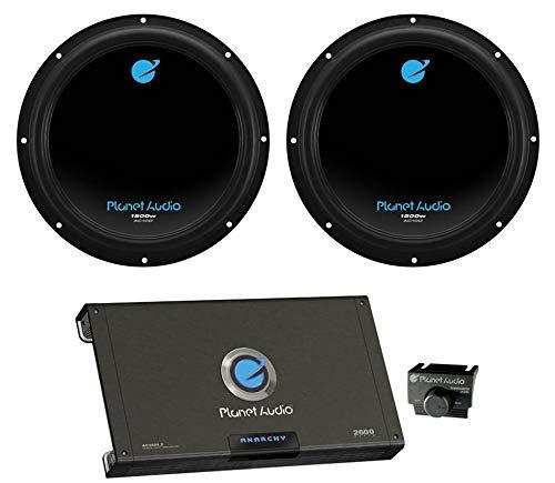 2) PLANET AUDIO AC10D 10' 3000W Car Subwoofers Subs+2600W 2 Channel Amplifier