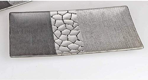 Formano Deko Schale Silber-grau 30 cm 739964