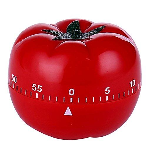 Kanggest.Temporizador de Dibujos Animados para Nevera y Cocina Digital con cronómetro y Alarma Recordatorio de Laboratorio Reloj Despertador de Cocina para Hornear y Más(Tomate)