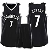 Maglia da basket da uomo Nets No.7 Durant - Camiseta de baloncesto n.º 11 Irving n.º 13 Harden (4XL 7)