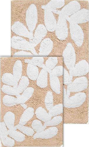 NEW Superior Egyptian Cotton 2 Piece Bath Mat Set White FREE SHIPPING