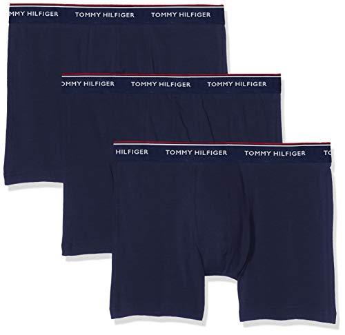Tommy Hilfiger Herren Boxershorts 3P Boxer Brief, Blau Marine, X-Large