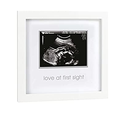 Pearhead Love at First Sight Sonogram Picture Frame, Baby Ultrasound Photo Frame, Baby Nursery Décor, White from Pearhead