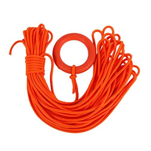 VORCOOL 30 Meter Bündel Durchmesser 8 MM Rettungsleine Schwimm Ring Armband Schwimmseil Wasser Rettung Schnorcheln Seil (Orange)